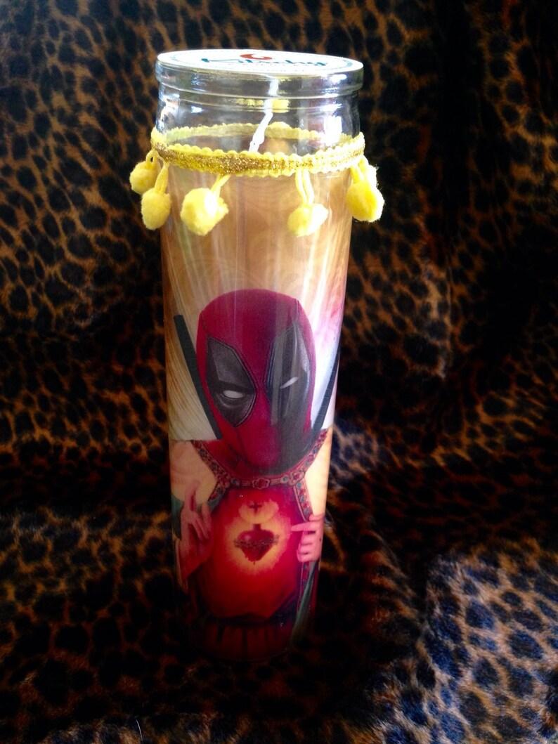 Deadpool Kitschy Kandle  Prayer Candle image 0