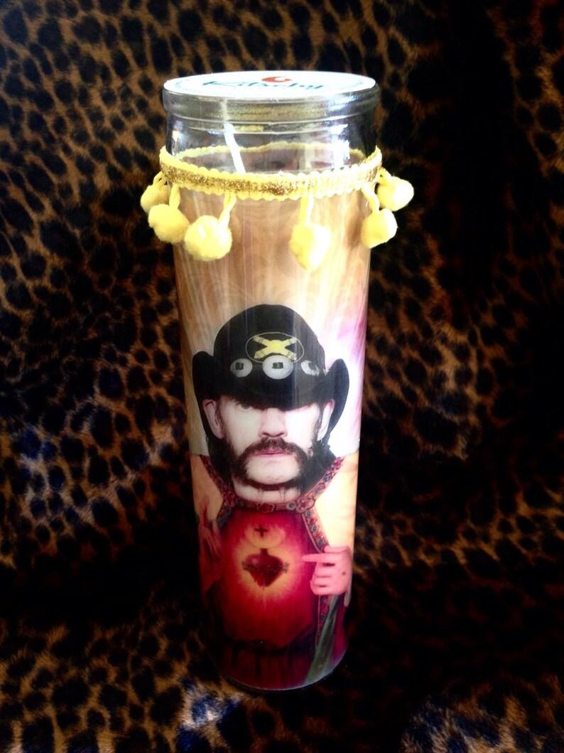 Lemmy Kilmister Motorhead Kitschy Kandle  Prayer Candle image 0