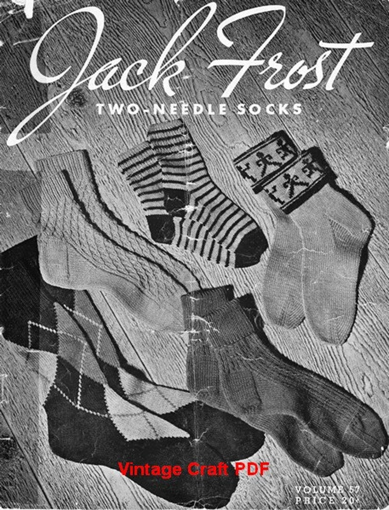 8e9c5d3e0 Two-Needle Socks Patterns Jack Frost Knitting Book Vol.57