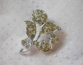 Vintage Silver and Rhinestone Pin or Brooch