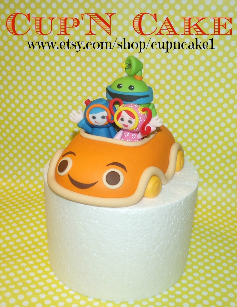 Geo Bot And Milli Team Umizoomi Car Fondant Cake Topper