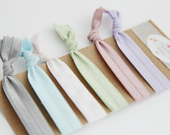 Pastels Elastic No Crease Hair Ties 6 Pack 7e509c39a5e