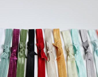 Set of 4- Elastic Headbands- Elastic Bow Headband