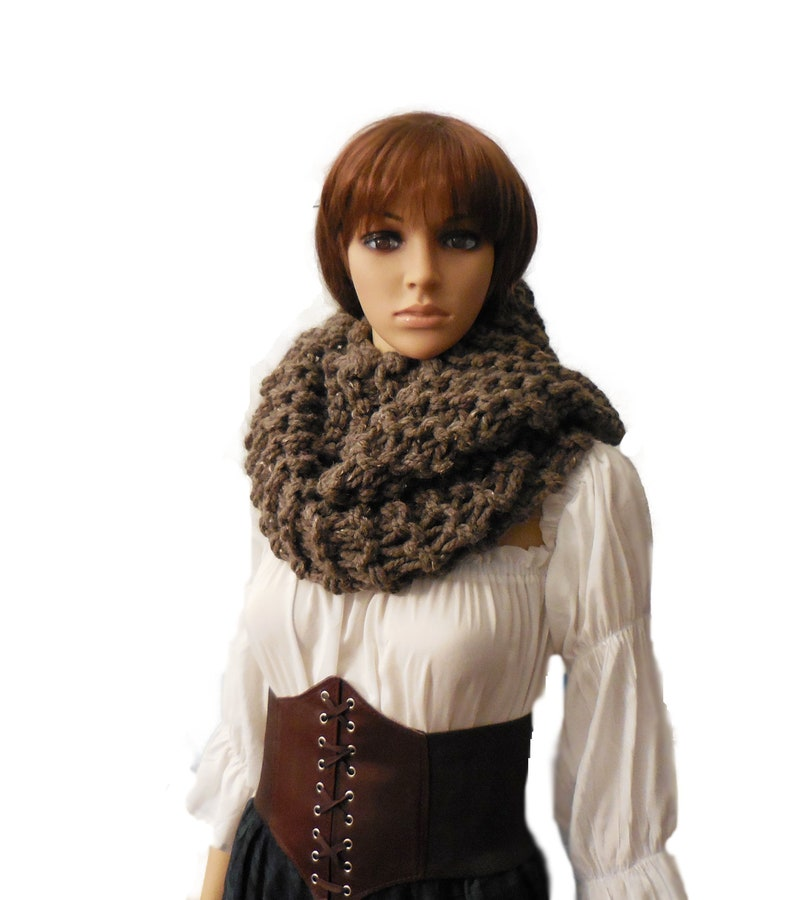 Outlander Claire Inspired Oversized Super Chunky Knit Infinity image 0
