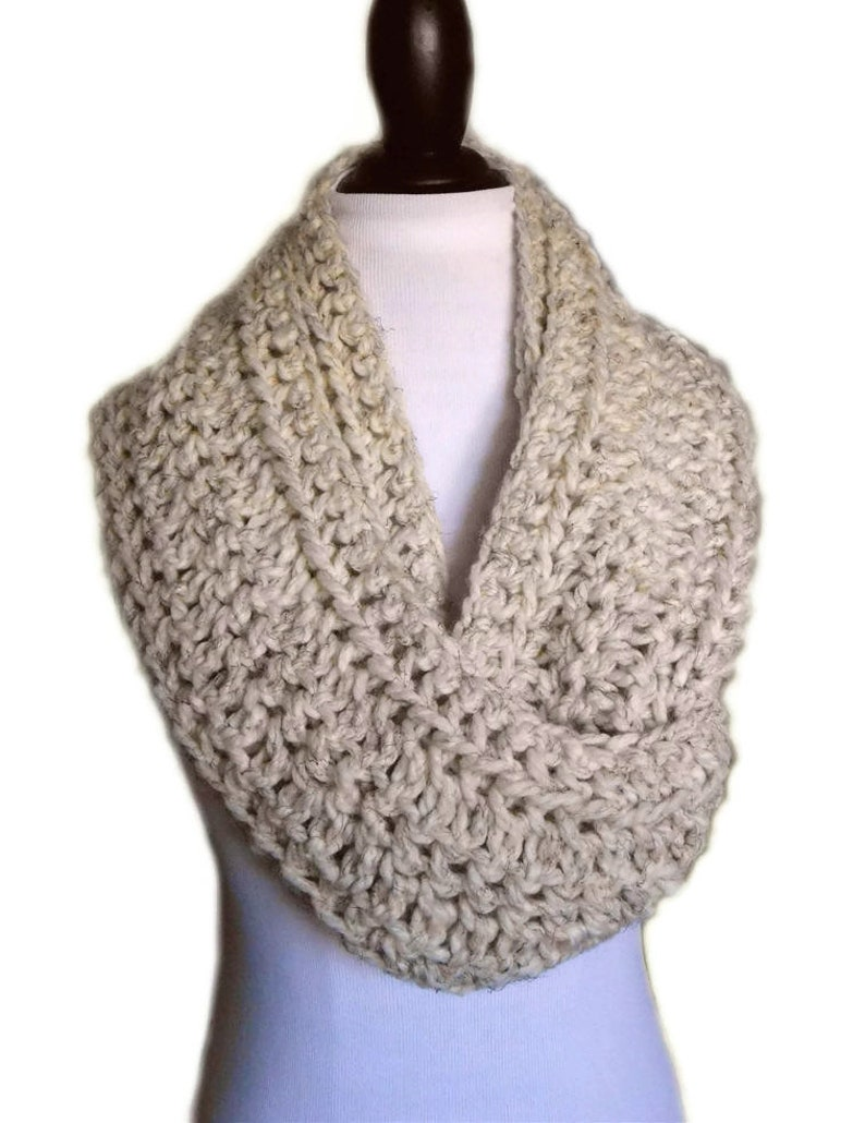 INFINITY SCARF Cowl Knit Scarf Crochet SUPPA Long Womens image 0