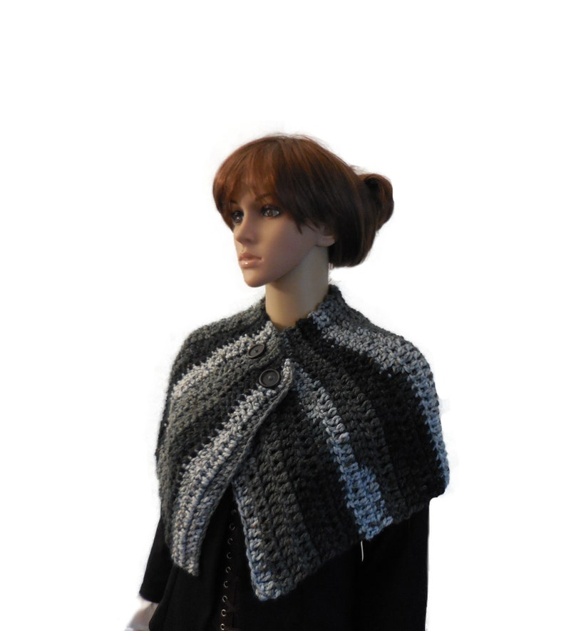 Brianna Capelet Outlander Inspired Mini Cape Knit Crochet image 0