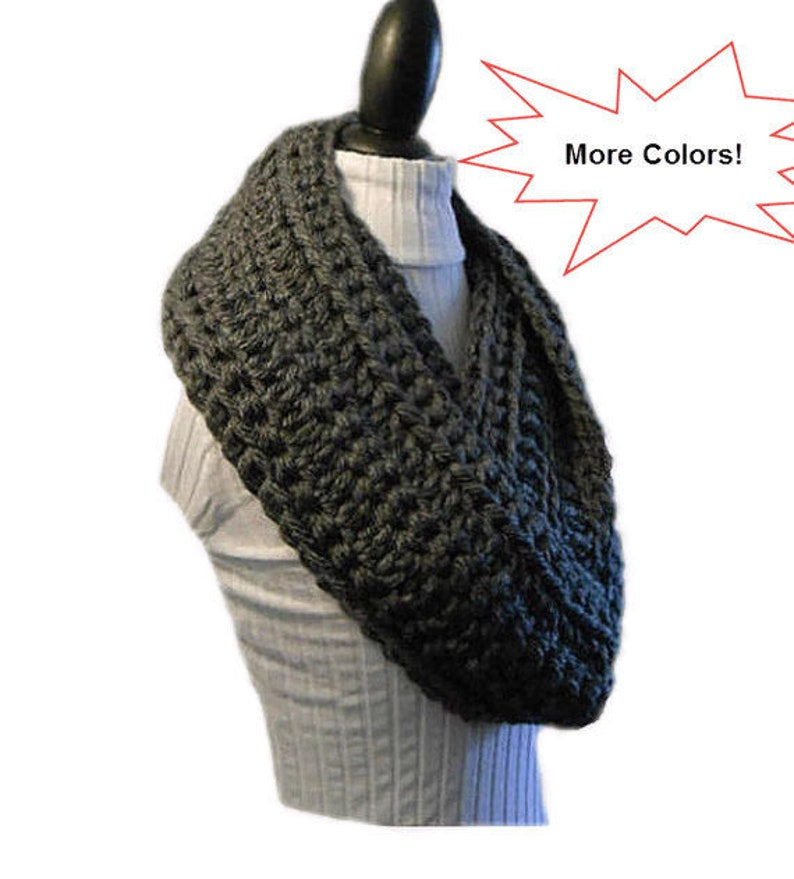 Infinity Scarf Cowl EXTRA Long Handmade Crochet Winter image 0