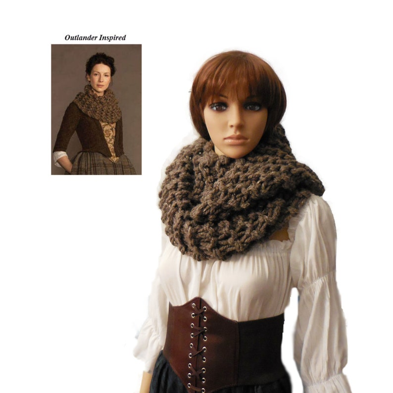 Outlander Claire Inspired Scarf Original Barley Brown image 0