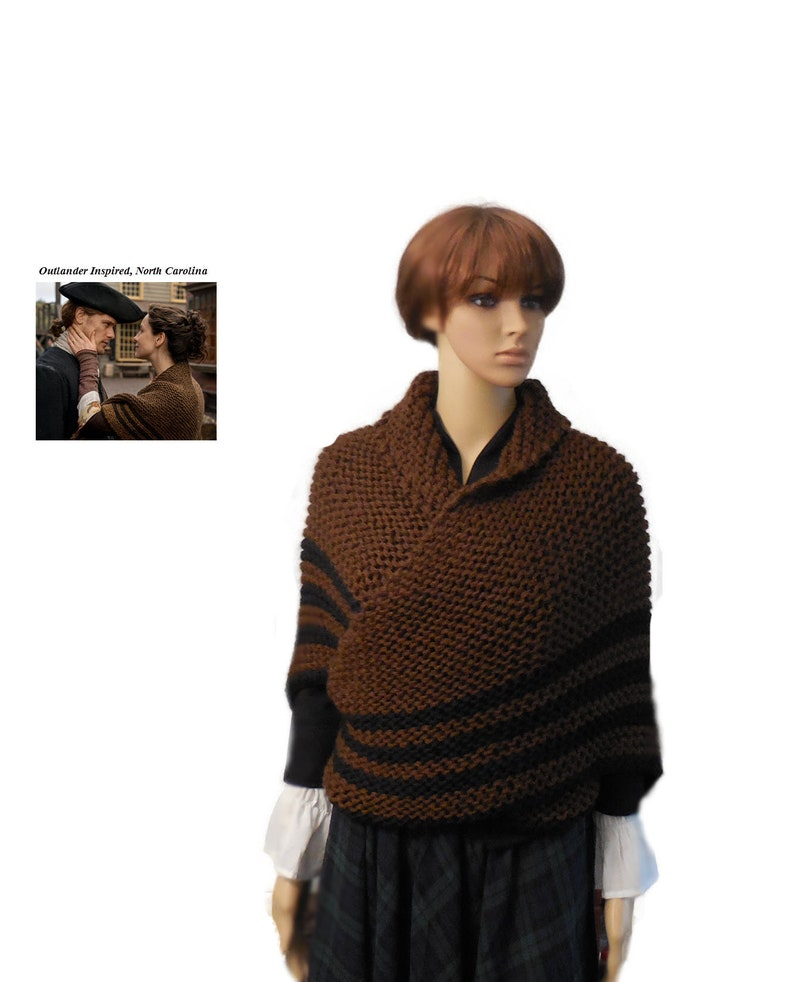 Outlander Claire Inspired Knit Shawl North Carolina Large image 0