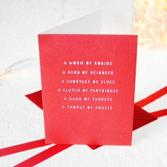 Christmas nouns card greeting cards packs english language etsy image 0 m4hsunfo