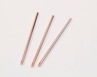 3601037  Stick Star  Rose Gold Plated Brass Pendant 6.7mm x 28.3mm  0.6g  4pcs