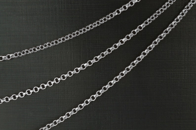 CJ24-06R Chain BL-32A Original rhodium plated copper brass Design chain Nickel free 1m Outer diameter 2.5mm 0.8mm thick