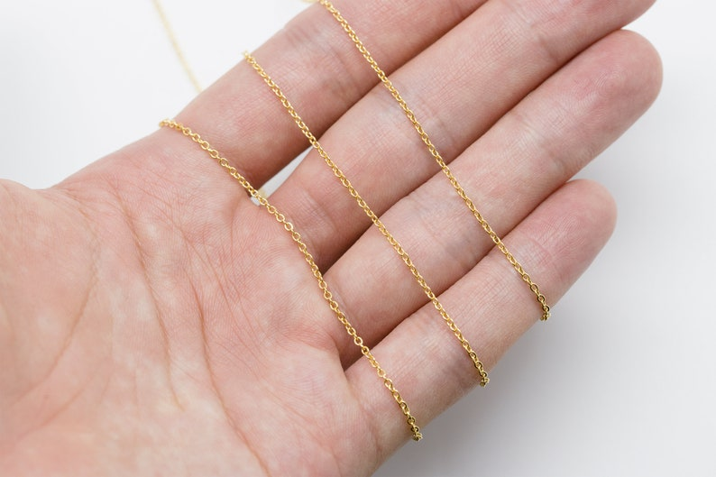 Jewelry making Design chain CJ01-08 10m 16k Gold plated Copper brass Chain MARKDOWN Chain 230SF Not easily tarnish Nickel free