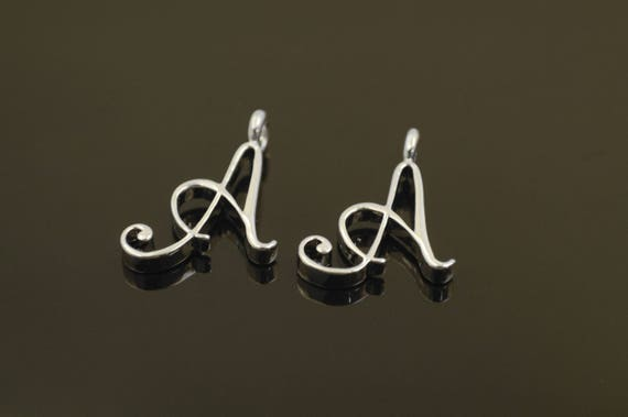 letter a charms alphabet a with link aa r8 nickel free 2 pcs 22x16mm 3mm 5837