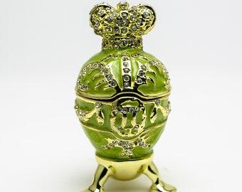 Red Heart Trinket box  hand made by Keren Kopal /& Austrian crystals Faberge