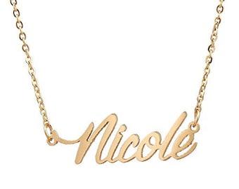f578ba7418ddb Nicole name necklace | Etsy