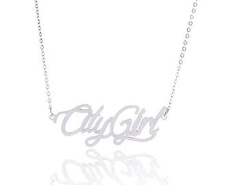 Personalized  initial necklace , name necklace , Monogram Necklace , Letter Necklace , CityGirl , Words are Power Necklace