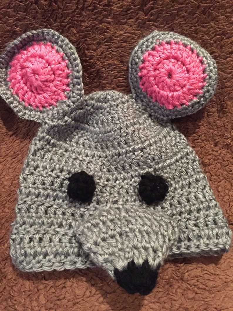 Mouse costume    Diaper cover and hat.