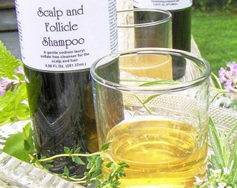 Hair loss shampoo, sulfate free, hair growth shampoo, Scalp and Follicle herbal shampoo, hair growth products 8.50 oz