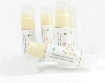 Organic lip balm, Vanilla Lip Balm, winter lip care chapstick
