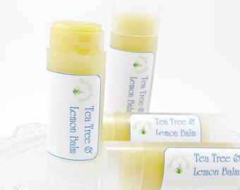Lemon Balm lip balm and Tea Tree lip balm lip moisturizer