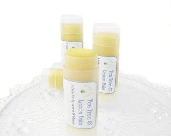 Lemon Balm and Tea Tree, lip balm, natural lip balm, aid cold sores, lip sores and blisters