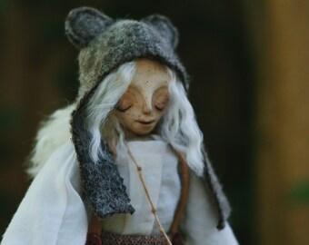 Emma. Art Doll  OOAK Teddy Bear Collectible Artdoll Claydoll