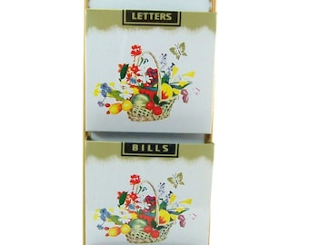 Vintage Tin Letter Holder