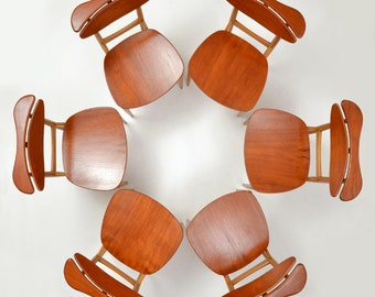 Finn Juhl for Bovirke  BO62 Chairs Six 6 Teak Oak Mid Century Modern Denmark Danish Reading Armrest
