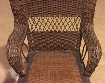 Early 19th Century Wicker Ricking Chair