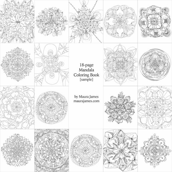 Psychedelic Mandala 18-page Coloring Book