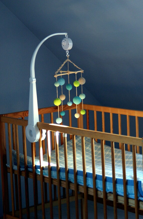 Baby Krippe Mobile Häkeln Pastell Babyjungen Handy Etsy
