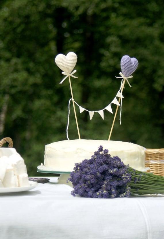 Hochzeitstorte Topper Hakeln Herzen Kuchen Topper Etsy