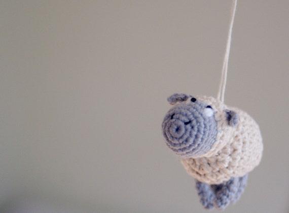 Gehäkelte Schaf-Mobile Baby-Mobile häkeln hängen Krippe | Etsy