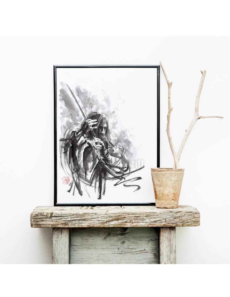 Ronin Painting Ronin Home decor Samurai Art Print Samurai image 0
