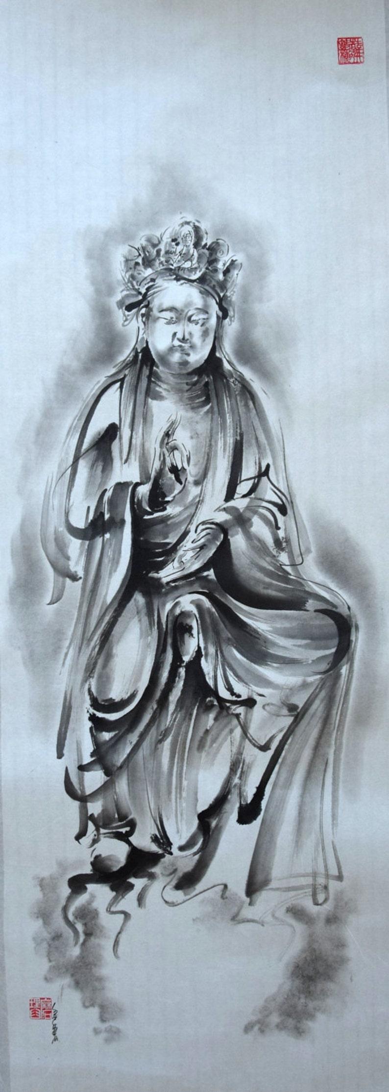 Guanjin Czenrezig Avalokiteśvara Buddha Painting Kannon image 0