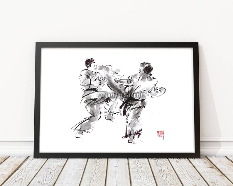45ff8112 Karate Martial Arts Warrior Painting Japanese Warrior | Etsy