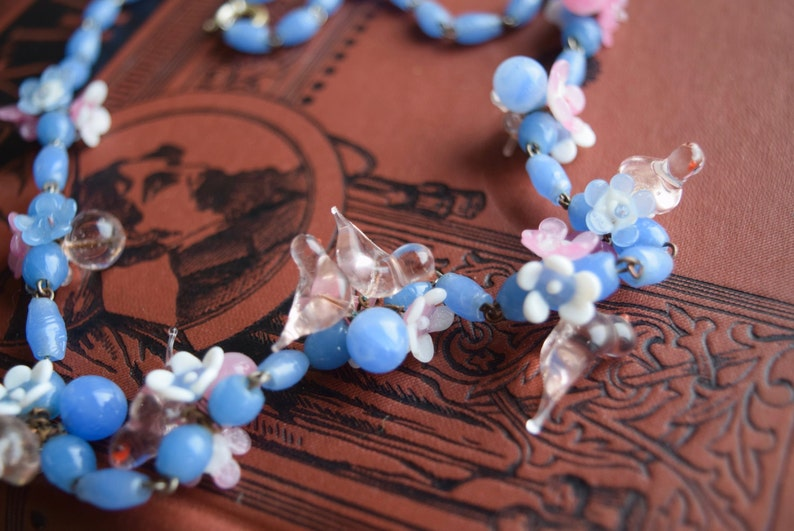 Italian Art Glass Necklace Vintage Venetian BIRD Blown Glass Necklace
