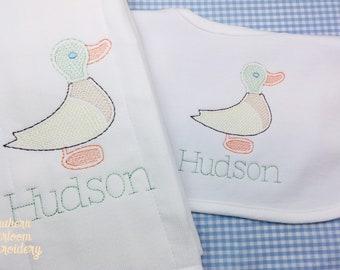 509c69d05 Duck baby bib