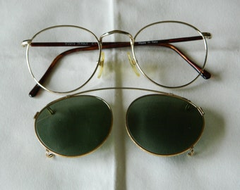 9f33cd83b6fe8 Vintage Boots Teasle Panto P3 Eyeglasses Sunglasses 49    20 . With Gold  Filled Clip on sunglasses. Made in Italy. 80 s
