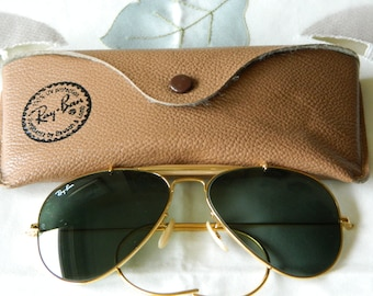 3b2b5ff272d8 Vintage Rare B L Ray-Ban L0216 GP G15 Lenses 58  14mm Aviator Sunglasses.  Made in USA. 80 s. EXC