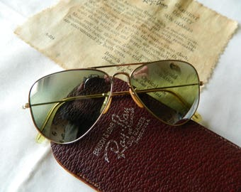 018a3714e67b ... usa true vintage rare ray ban bl 1 10 12 k gold filled 52mm dgm double