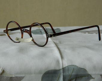5e4ad5c51836 True Vintage Rare Antique Unusual Hand Made Round Eyeglasses Spectacles  Frames 1920 s Made in England. NOS. New Old Stock. EXC