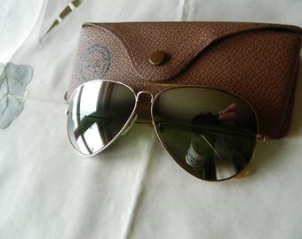 f7eda5002c True vintage rare Ray Ban B L 10 k gold filled 58 mm (DGM) Double Gradient  Mirror aviator sunglasses 50 s-60 s. Made in USA. EXC