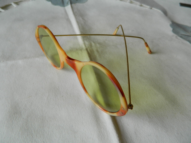 True Vintage Rare Antique Hand Made Bakelite Round Sunglasses