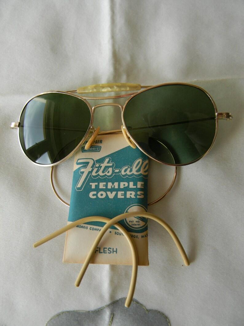 200e9957f1 Vintage Visionade 1 10 12K GF Pilot Aviator WWII Sunglasses