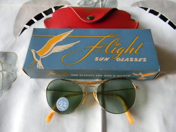 0051f82fec vintageaviator flight sunglasses Gold plated 1940 s