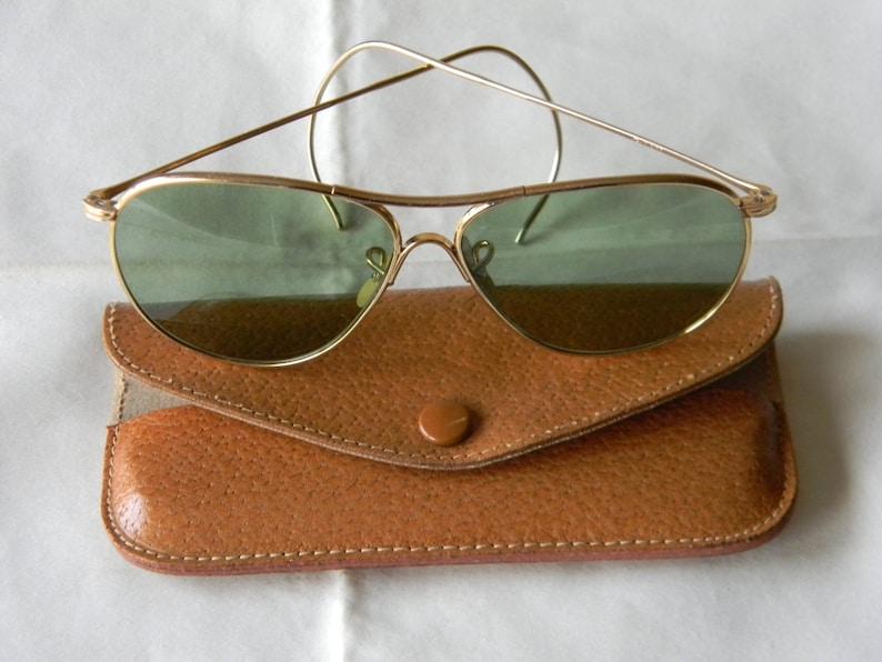 038439870f True Vintage Rare American Optical Aviator Calobar Green