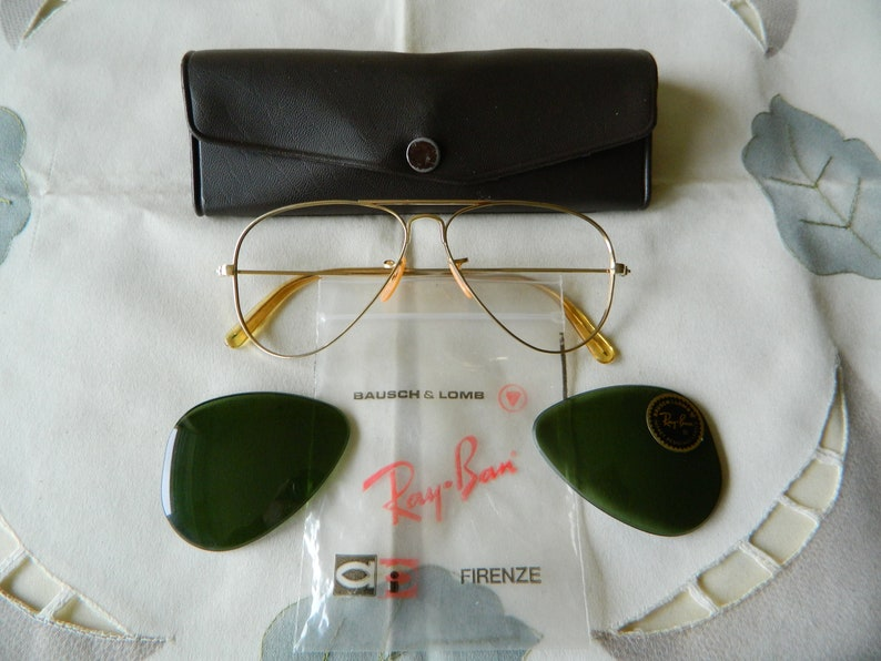 8fb360c776c True Vintage Bausch   Lomb Ray Ban 1 10-12KGF With G15 Green