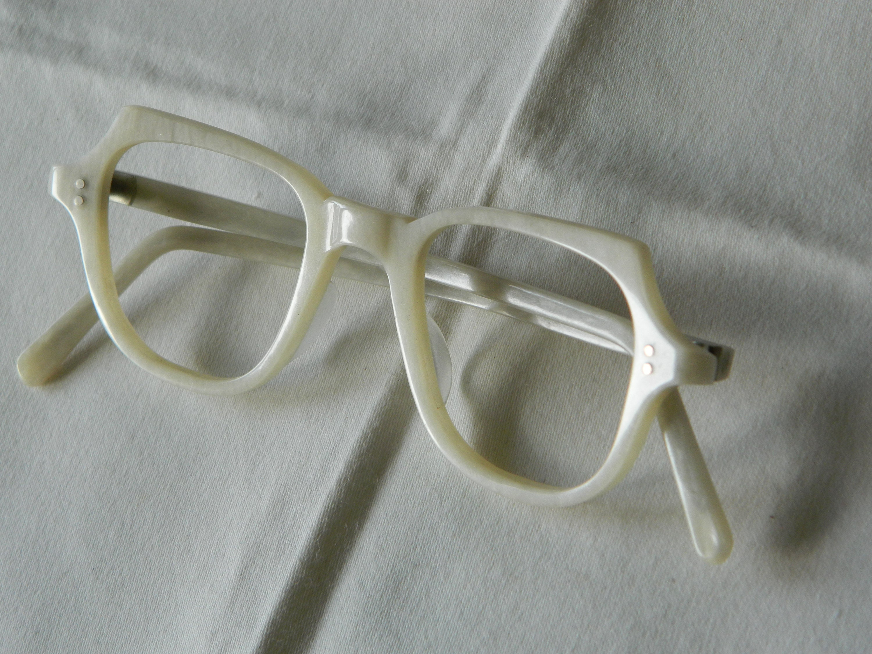 True Vintage Rare Panto Quadra Pearl Eyeglasses Frame. Made in